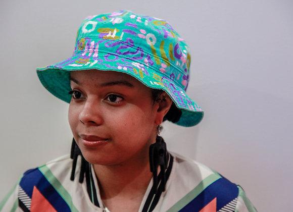 Sea Foam-Based Void People Bucket Hat