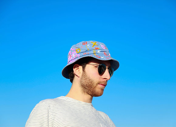 Periwinkle-Based Void People Bucket Hat