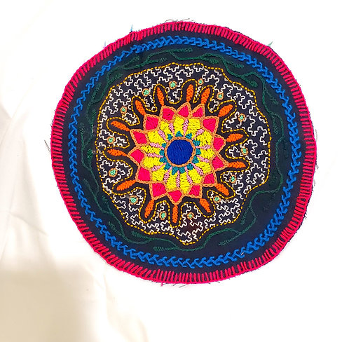"AC23.2 Hand Embroidered Meditation Circle 9"""