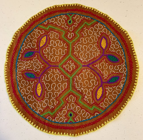 AC26.1 Hand Embroidered Meditation Circle