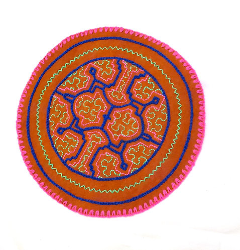 AC5.26 Hand Embroidered Meditation Circle 6.5""