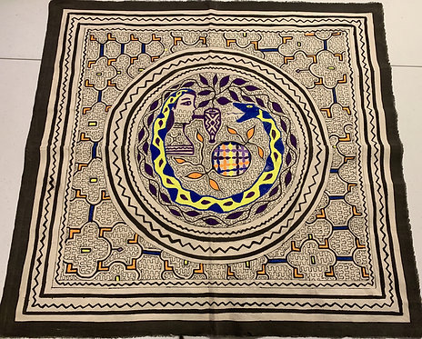 "AA79 Hand Painted Serpent Altar Cloth 29""x30"""