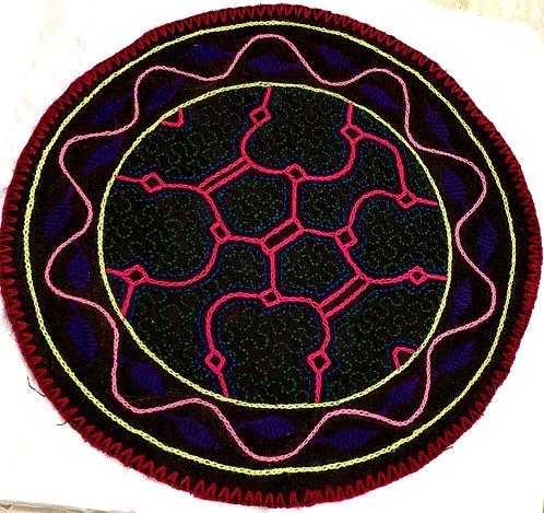 "AC15.11 Hand Embroidered Meditation Circle 10"""