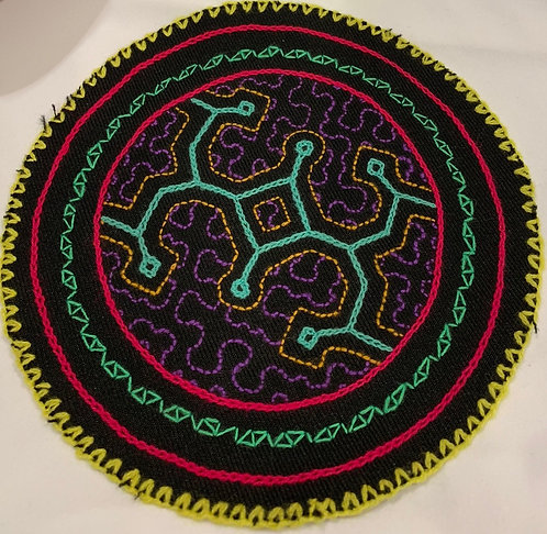 AC5.6 Hand Embroidered Meditation Circle 6.25""