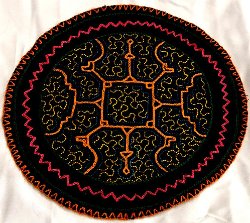 AC13.7 Hand Embroidered Meditation Circle 7.75""