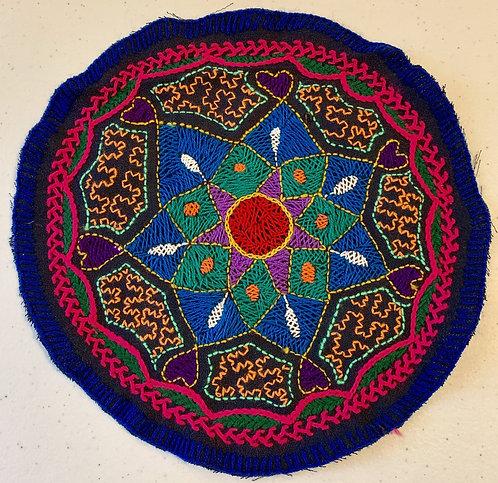 "AC23 Hand Embroidered Meditation Circle 9"""