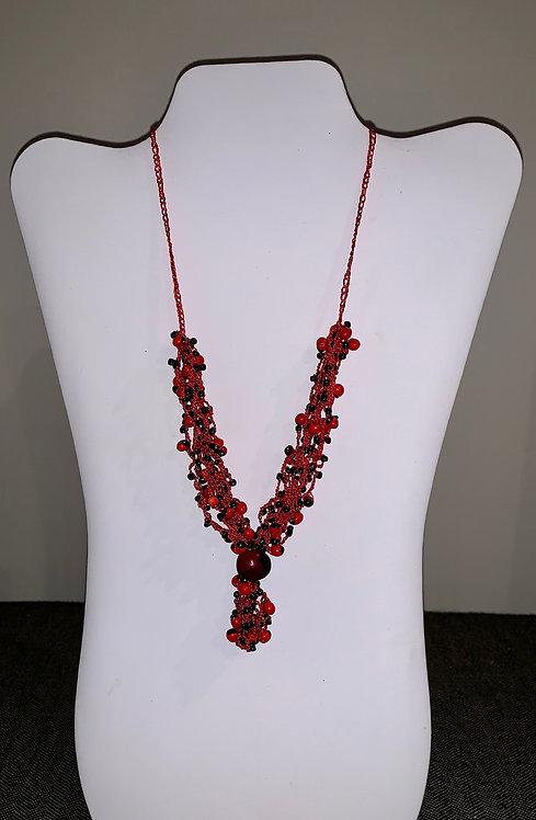 JN74 Huayruro Bead Necklace