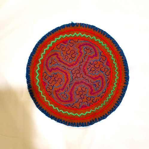 AC4.21 Hand Embroidered Meditation Circle 6.5""