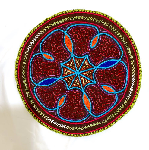 AC24.6 Hand Embroidered Meditation Circle 10""