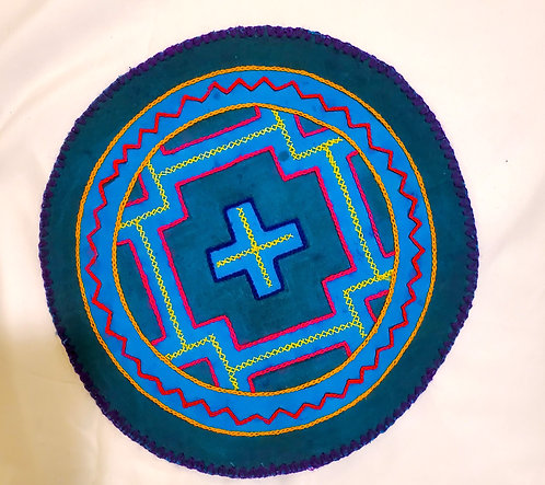 AC15.8 Hand Embroidered Meditation Circle 9.5""