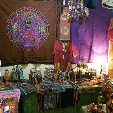 The Amazonian Shipibo Art & Spiritual Aids Trunk Show is happening now through Sunday at Cosmic