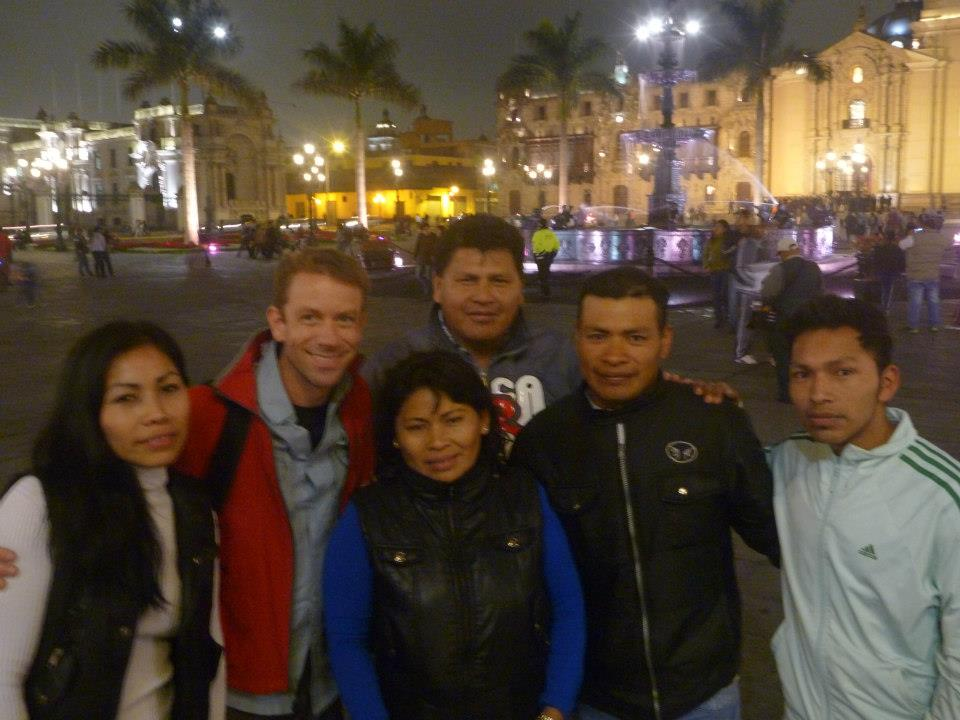 Jeff Crawford with Shipibo in Peru