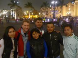 Jeff Crawford with Shipibo in Peru