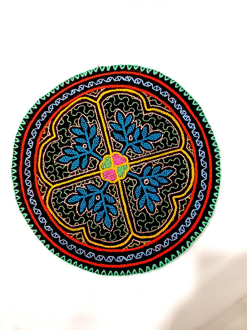 AC13.10 Hand Embroidered Meditation Circle 7.75""