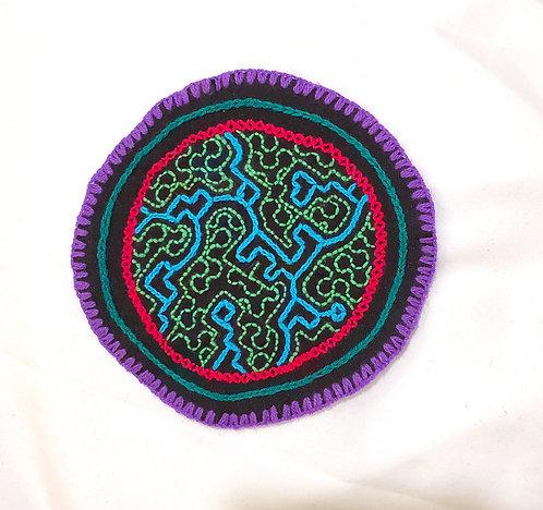 "AC2.1 Hand Embroidered  Meditation Circle 5.25"""
