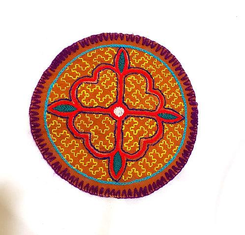 "AC3.6 Hand Embroidered Meditation Circle 6.5"""