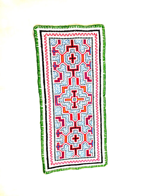 "AA76 Hand Embroidered Altar Cloth  17.5""x 8"""