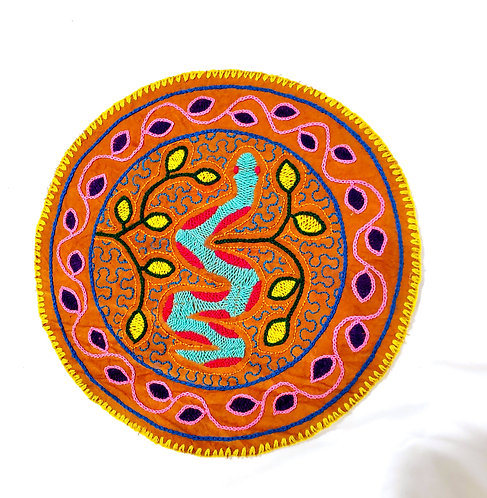 AC15.14 Hand Embroidered Meditation Circle 9""