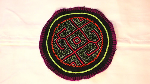 AC6.5 Hand Embroidered Meditation Circle 6""