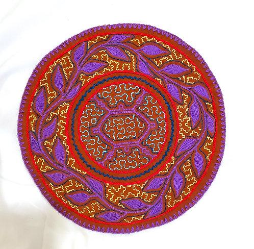"AC15.2 Hand Embroidered Meditation Circle 9.5"""