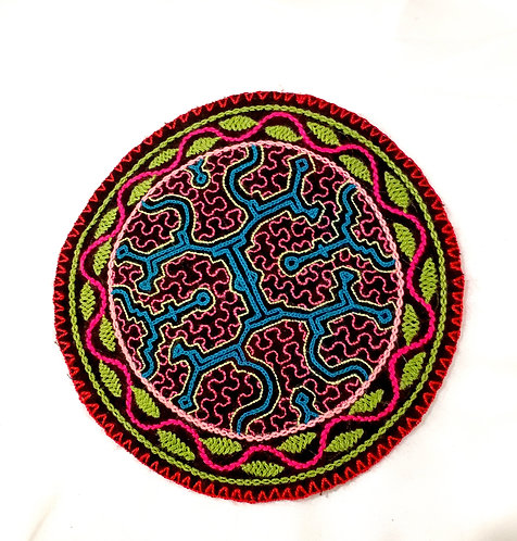 AC13.16 Hand Embroidered Meditation Circle 7.5""