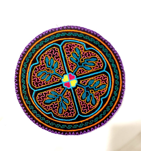 "AC13.8 Hand Embroidered Meditation Circle 7.75"""