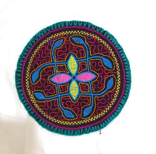 "AC9.4 Hand Embroidered Meditation Circle 7.75"""