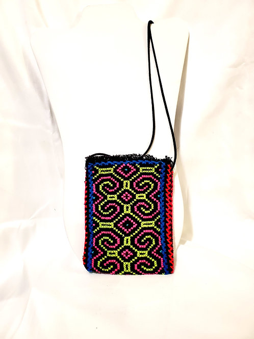 "GB46.1 Hand-Embroidered Shipibo Textile Mini Bags, 4.5"" x 6""2"