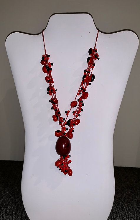 JN72 Huayruro and Mancian Red Necklace