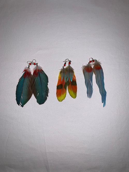 JE12 Feather Earrings
