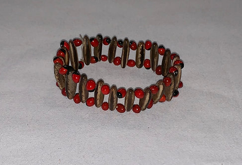 JB26 Huayruro and Seed Bracelet