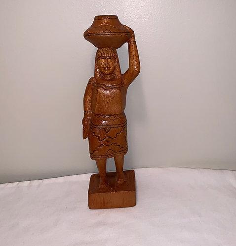 GS1 Wooden Woman Statue