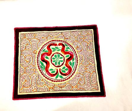 """AA77.5 Hand-Embroidered Matrimonial Ayahuasca Themed  Altar Cloth 17.5"""" x 14"""""""