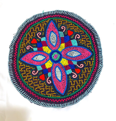 "AC18.3 Hand Embroidered Meditation Circle 9"""