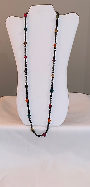 JN34 Mancian and Multi Color Seed Necklace