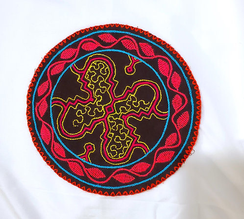 AC13.21 Hand Embroidered Meditation Circle 7.75""