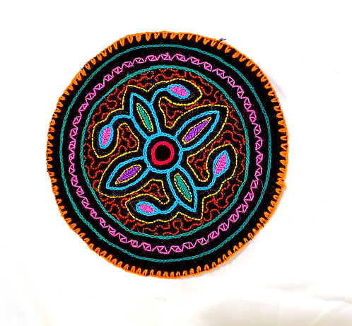 AC20.1 Hand Embroidered Meditation Circle 6""