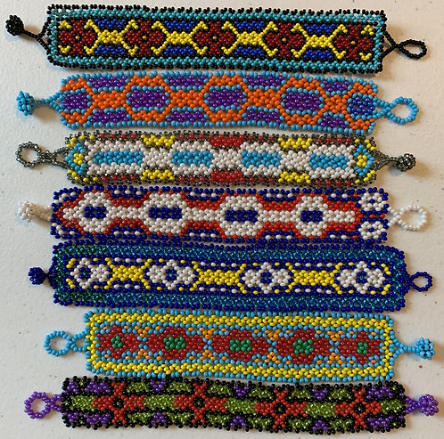 JB82.7 Small Beaded Geometric Bracelets