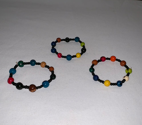 JB53 Multi Color Seed Bracelet