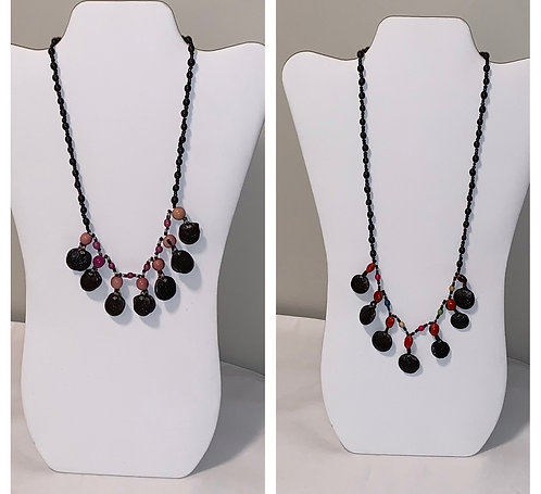 JN41 Huayruro, Mancian, Shell, and Seed Necklace