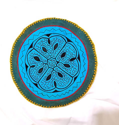 AC9.1 Hand Painted & Embroidered Meditation Circle 9.5""