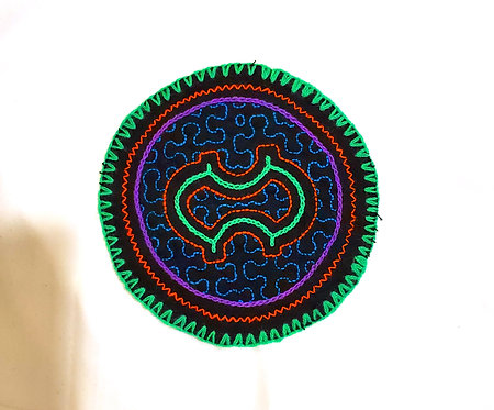 AC1.8 Hand Embroidered Meditation Circle 5""