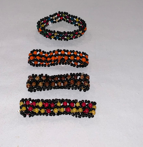 JB15 Beaded Multi Color Seed Bracelet