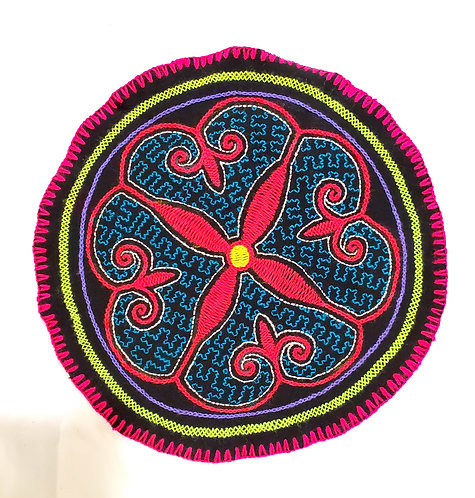 AC14.14 Hand Embroidered Meditation Circle 9.25""