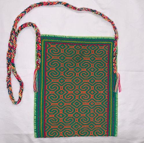 """GB28.1 Hand-Embroidered Shipibo Textile Bag 11.75 """" x 9.75"""""""