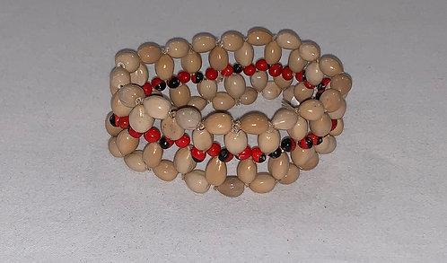JB28 Huayruro and Seed Bracelet