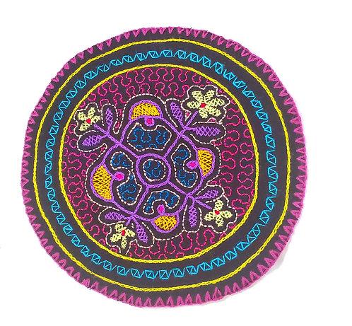 "AC20.2 Hand Embroidered Meditation Circle 8"""