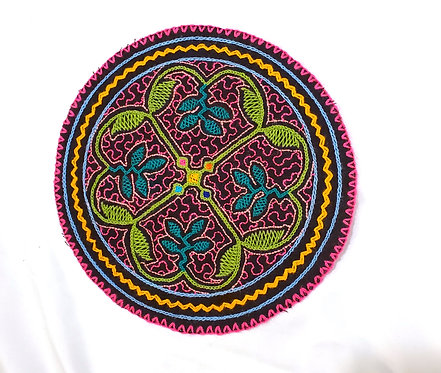 AC13.1 Hand Embroidered Meditation Circle 7.5""