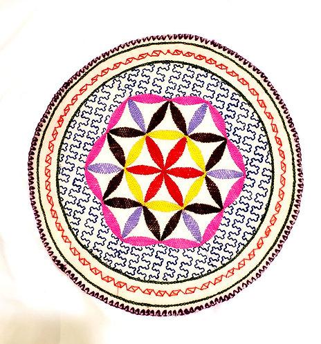 "AC25.2 Hand Embroidered Meditation Circle 10"""