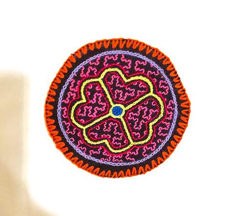 "AC1.3 Hand Embroidered Meditation Circle 4.5"""